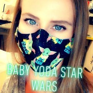 Baby yoda star wars disney face mask adjustable